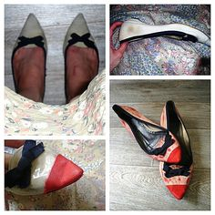 shoes refashioned with paint - from http://pimprelys.over-blog.com