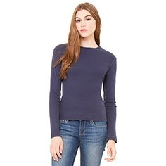 Zara Yoga Studio |LA| Women's Baby Rib Long Sleeve Tee >>> Details can be found by clicking on the image. (This is an affiliate link) #Clothing