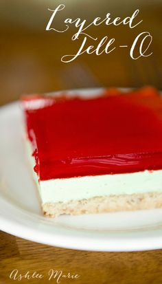 An easy to make and delicious layered jello that everyone loves