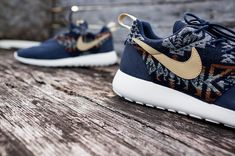 Nike Roshe Run iD - Pendelton Navy | Flickr - Photo Sharing!