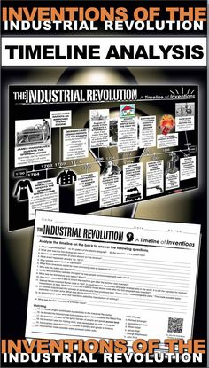 Inventions of the Industrial Revolution Timeline takes your students to the years of the industrial revolution period, 1750 to 1900. Students analyze the timeline and complete a twenty question common core aligned worksheet. This assesses students on inventions of industrial revolution, as well as timeline analysis. An optional QR coded timeline is also included for more student engagement. It can be used in class or as homework as it's a completely stand alone assignment. Key is included.