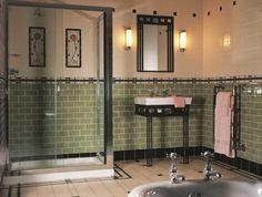 le-carrelage-salle-de-bains-beauté-et-confort-zen-vintage-rétro-salle-de-bain-carrelage-vert