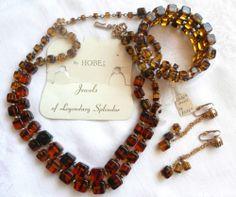 Amazing Vintage Hobe Necklace Bracelet Earrings Set Signed Original Tags Jewelry | eBay