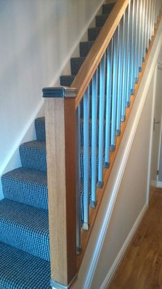 A Recent Staircase Renovation Using The Solution Stair System In Oak And  Chrome