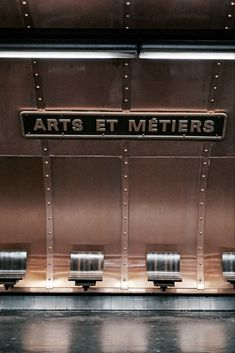 Paris' vintage inspired metro station, Arts et Metiers metro station, is located on lines 3 and 11 and lies below a museum bearing the same name. Jules Verne, U Bahn Station, Train Station, Steampunk, Interaktives Museum, Metro Paris, Metro Style, Paris Travel, Travel Europe