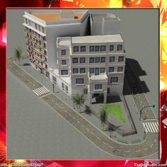 3d models European City Block 02