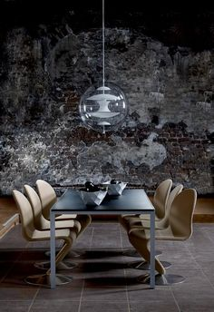 System 1 2 3 Chair :: 1973 and Globe Pendant Light :: 1969 designed by Verner Panton
