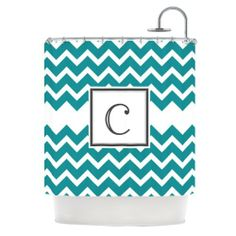 Kess InHouse KESS Original Shower Curtain, 69 by 70-Inch, Monogrammed Letter C, Chevron Teal Kess InHouse,http://www.amazon.com/dp/B00GOLS0HE/ref=cm_sw_r_pi_dp_.v2Msb07KQBYM4CE