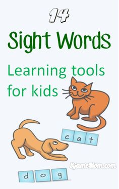 Best sight words learning tools for kids from preschool to kindergarten to elementary level: apps, games, worksheets, activities. Including Dolch, Fry, UK, and more.