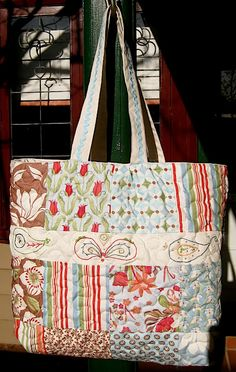 Charms and embroidery tote bag tutorial