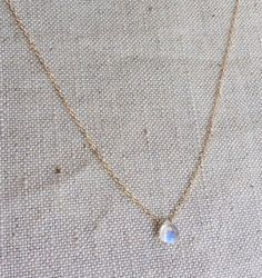 Hey, I found this really awesome Etsy listing at https://www.etsy.com/ca/listing/218495454/tiny-moonstone-necklace-gold-moonstone