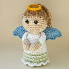 A cute little angel made with your warm hands is a perfect gift for Christmas. Follow this easy crochet pattern and enjoy your work!