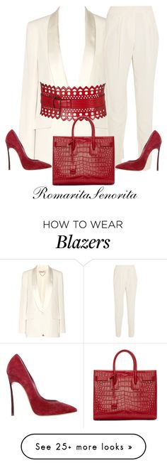 """Chic"" by romaritasenorita on Polyvore featuring Vanessa Bruno, Vionnet, Alaïa, Casadei and Yves Saint Laurent"