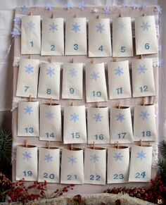 my new countdown calendar: the 2009 Toilet Paper Tube Advent is ready for December. Last year's advent calender gained a . Advent Calenders, Diy Advent Calendar, Countdown Calendar, Event Calendar, Christmas Countdown, Christmas Fun, Christmas Calendar, Xmas Holidays, Toilet Paper Roll Crafts