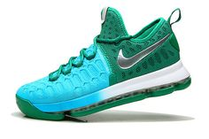 hot sale online 98a43 d1b70 Fashion KD 9 IX Clear Jade Hyper Turquoise Blue Lagoon Silver Mens Basketball  Shoes 2018 For Sale