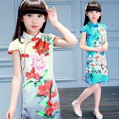 >> Click to Buy << Children's cheongsam summer girls dress costume flower Chinese style girls princess dress children dress kids dresses for girls #Affiliate