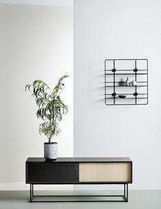 Virka sideboard, low, black/oak • Looks beautiful standing alone - but can also…