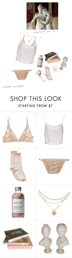 """""""Lucky"""" by rosedejour ❤ liked on Polyvore featuring Calvin Klein Underwear, Jean-Paul Gaultier, HUE, French Girl and Taschen"""