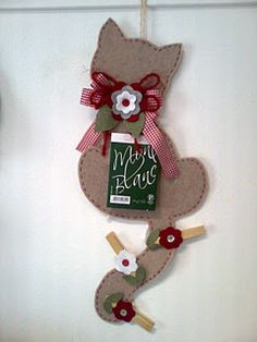 Porta blocco n ote Porta block-notes Cat Crafts, Crafts To Sell, Diy And Crafts, Crafts For Kids, Arts And Crafts, Diy Projects To Try, Sewing Projects, Felt Material, Christmas Crafts