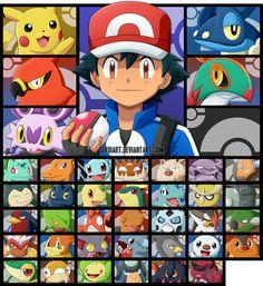 Pokemon - Ash's Journey by SergiART.deviantart.com on @DeviantArt