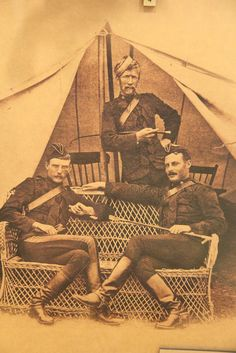 NWMP officers at Fort Macleod, 1886