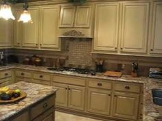 Kitchen cabinet faux painting