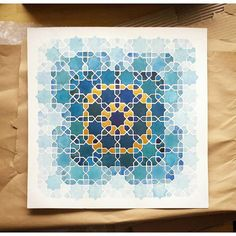 Samira Mian's gallery of Islamic Geoemtric Patterns in Watercolour and/or Gouache