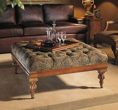 William Ottoman from the Henredon Upholstery collection by Henredon Furniture Furniture Upholstery, Large Furniture, Great Room Layout, Upholstered Accent Chairs, Great Rooms, Home Furnishings, House Design, Living Room, Ottomans