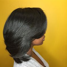 Med Length Hairstyles, Short Relaxed Hairstyles, Medium Hairstyles, Latest Hairstyles, Pressed Natural Hair, Dyed Natural Hair, Natural Hair Styles, Short Hair Styles, Relaxed Hair Journey
