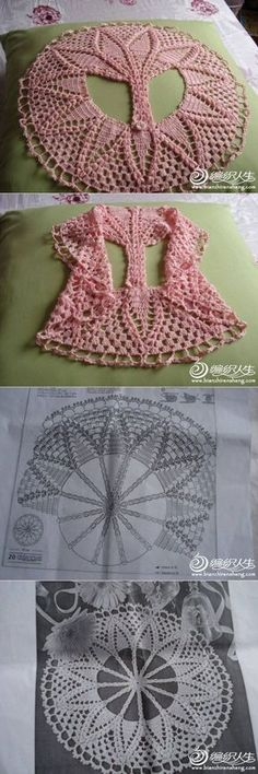 22 Trendy Ideas For Crochet Sweater Circle Yarns Crochet Circle Vest, Crochet Cape, Crochet Circles, Crochet Shawl, Crochet Bookmark Pattern, Crochet Poncho Patterns, Crochet Doll Clothes, Crochet Gifts, Crochet For Kids