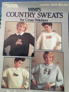 Country Sweats Leisure Arts Cross Stitch Pattern Mimi 503 | eBay
