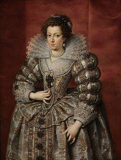 Anne of Austria by Frans Pourbus, 1616 // Frans Pourbus le Jeune - Anne d'Autriche, reine de France - 1616