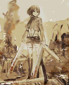 mikasa -shingeki no kyonjin by uturo128.deviantart.com on @deviantART