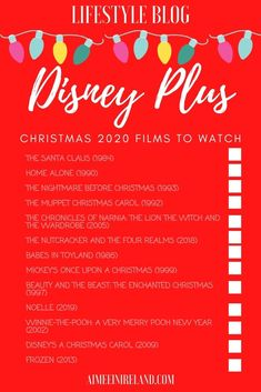 Wondering what to watch on Disney Plus this Christmas? Here's my list of the best Christmas films and shows available now. #blogmas #disneyplus #disneypluschristmas #disneychristmas #disney