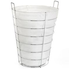 "The Container Store > Chrome Laundry Hamper by Umbra®; 20 3/4 x 25 1/2"" h"