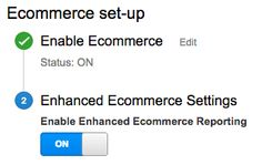 Set up enhanced ecommerce in Google Analytics in order to improve online sales