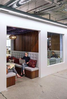 Airbnb, San Francisco #seatingarea #design #moderndesign http://www.ironageoffice.com/