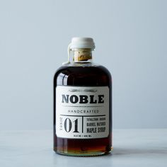 Noble Tonic 01: Tuthilltown Bourbon Barrel Matured Maple Syrup.  Make your pancakes very, very happy.