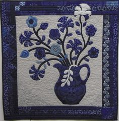 Blue Jug by Judith Barker 2013.  Winner of Visitor's Choice award at Cynon Valley Museum.