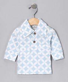 Take a look at this White Diamond Organic Vintage Polo - Infant & Toddler by violet + moss Boys on #zulily today!