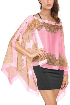 DJT Mujeres Caftan Pareo de Playa Multifuction como Top Capa Rosa XX-Large: Amazon.es: Ropa y accesorios Tunic Designs, Kurta Designs, Pink Fashion, Fashion Dresses, Diy Clothes, Clothes For Women, Ways To Wear A Scarf, Stylish Blouse Design, Dress Indian Style