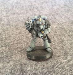 Warhammer 40k Space Marine Tech Marine W/watch  Rogue Trader Metal Oop Gw #GamesWorkshop