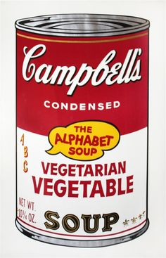 Vegetarian Vegetable from Campbell's Soup II by Warhol