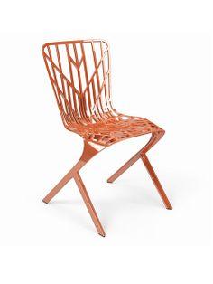 Cadeira de Alumínio com Acabamento Cobre. Designer: David Adjaye / Knoll.
