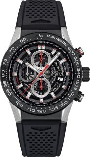 CARRERA 100M Calibre 16 Automatic Chronograph Black Version 44MM SENNA SPECIAL EDITION Black Steel bracelet | TAG Heuer