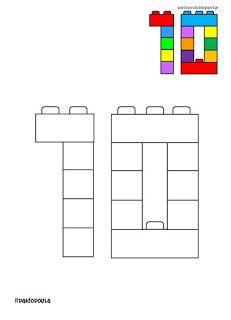 Lego Math, Lego Duplo, Preschool Math, Preschool Worksheets, Early Learning, Kids Learning, Eyfs Classroom, Lego Activities, Tracing Worksheets