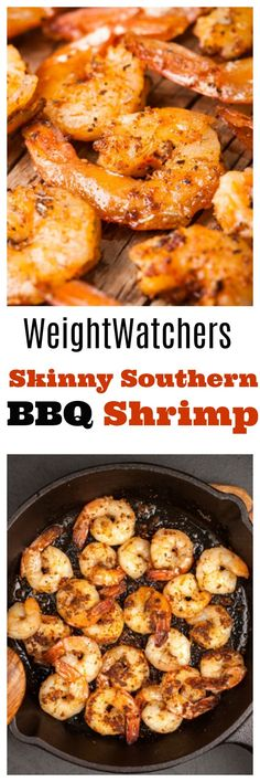BBQ Shrimp Skinny Southern BBQ Shrimp Recipe for Weight Watchers is so Easy & Delicious with just 4 WW SmartPoints!Skinny Southern BBQ Shrimp Recipe for Weight Watchers is so Easy & Delicious with just 4 WW SmartPoints! Ww Recipes, Skinny Recipes, Fish Recipes, Seafood Recipes, Cooking Recipes, Healthy Recipes, Dinner Recipes, Healthy Meals, Vegetable Recipes