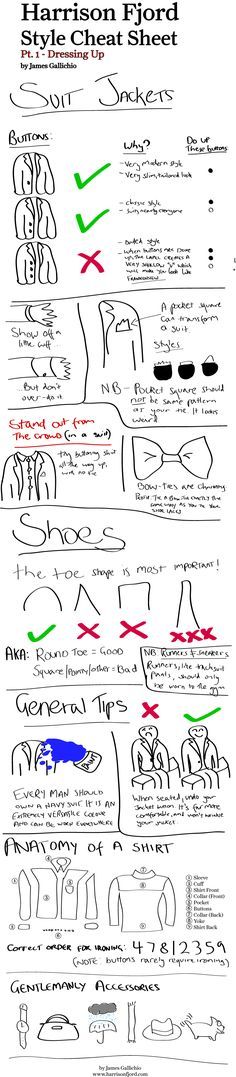 Harrison Fjord style Cheat Sheet  #Mode #style #Fashion #Gentleman #Lifestyle