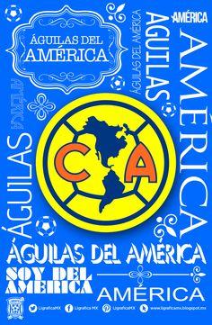 #América #LigraficaMX 141114CTG Chicago Bulls, Chicago Cubs Logo, Soccer Theme, Clip Art, Ronaldo, Football, Love, School, Frases