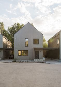 Sweco's architects have designed the Vårvetet residential development in Hagsätra, a suburb of Stockholm. Gable House, Pergola With Roof, House In The Woods, Contemporary Architecture, Detached House, Future House, Townhouse, New Homes, Mansions